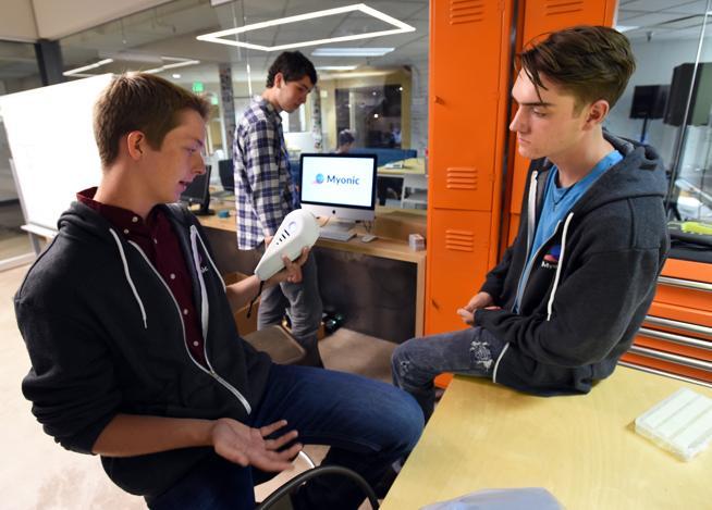 Boomtown creators Nick Titus and Sam Everett of Centaurus High School. Photo Source: Boulder Daily Camera