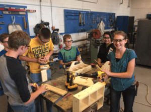 Arickaree students in shop class