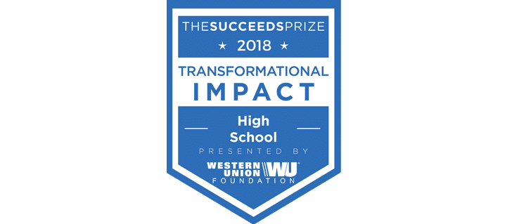 The Succeeds Prize high school award banner