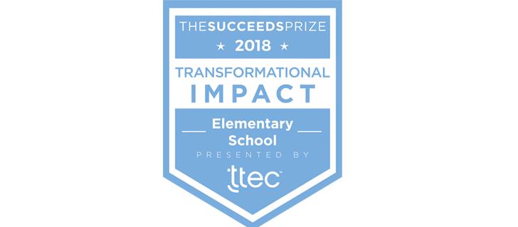Transformational Impact in an Elementary School award blog banner